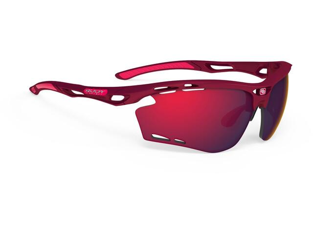 Rudy Project Propulse Occhiali, merlot matte/multilaser red